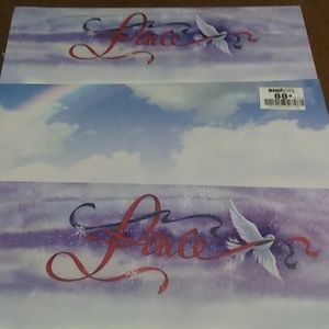 Other - NEW Christmas Letterhead Peace 3 Pack 242ct
